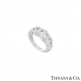 Tiffany & Co. White Gold Diamond Lattice Ring